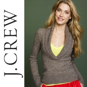 EUC {J. CREW} Lofty Alpaca Shawl Collar Sweater